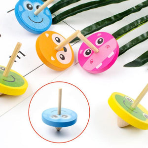 Wooden Funny Clown Gyro Beyblade Classic Beyblade Burst Gyroscope Spinning Toy for Kids Children Birthday Festival Gifts - thegsnd