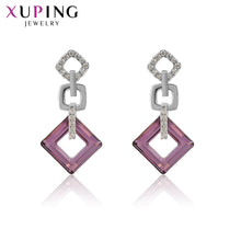 Load image into Gallery viewer, Xuping Exquisite Colorful Earrings High Quality Crystals from Swarovski Color Plated for Women Valentine's Day Gifts S89-202 - thegsnd