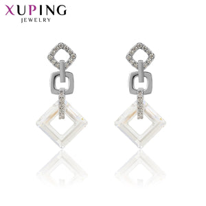 Xuping Exquisite Colorful Earrings High Quality Crystals from Swarovski Color Plated for Women Valentine's Day Gifts S89-202 - thegsnd