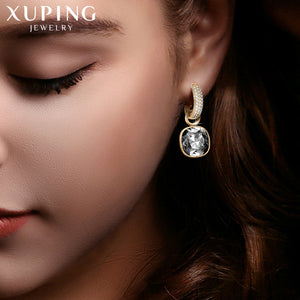 Xuping Jewelry Luxury Exquisite Crystals from Swarovski Gold Color Plated Earrings for Women Valentine's Day Gifts M65-203-Women Jewelry Collection.-thegsnd