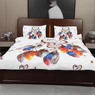Yimeis Bedding Sets For Girl White Queen Size Bed Sheets Set Cartoon Bedsheets Cotton In King Size BE47901-Kids Sleeping Kit-thegsnd