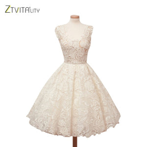 ZTVitality Women Dresses 2019 Vestidos Hot Solid Fashion Lace Dress A-Line Sleeveless Sexy Expansion Dress Elegant Party Dresses-Women's Clothing-thegsnd