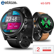 Zeblaze THOR 4 PRO 4G SmartWatch 1.6 inch Crystal Display GPS/GLONASS Smart Watch Quad Core 1GB+16GB 600mAh 5.0MP Leather Strap-Smart Watch-thegsnd