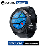 Zeblaze VIBE 3 PRO Color Touch Display Sports Smartwatch Heart Rate IP67 Waterproof Weather Remote  Music Men For IOS & Android - thegsnd
