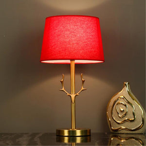 art deco wedding decoration red table lights gold deer bed room lamp living lighting - thegsnd