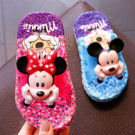 boys girls slippers summer flip flop children's sandals 3D cartoon Mickey minne School girls beach slippers kids shoes sandal - thegsnd