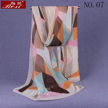 Load image into Gallery viewer, chiffon scarf winter ponchos woman print plaid designer luxury brand ladies hijab head wrap sjaal stoles spring ethnic schal new - thegsnd