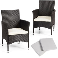 Dining Chairs Set with 2 Cushion Covers- 2 Pieces-Furniture-MerchMixer-thegsnd