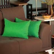 Honey Kelly Green Lumbar Throw Pillow Cover  (Set of 2) - thegsnd