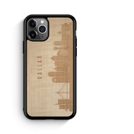 CityScape Wooden Phone Case (Dallas TX Skyline)-Adult Products-WUDN-thegsnd