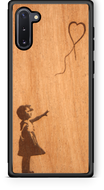 Slim Wooden Phone Case (Banksy Girl With a Balloon in Mahogany)-Adult Products-WUDN-thegsnd