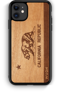 Slim Wooden Phone Case (California Republic Flag in Mahogany)-Adult Products-WUDN-thegsnd
