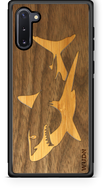 Slim Wooden Phone Case (Great White Shark with Bamboo in Black Walnut)-Adult Products-WUDN-thegsnd