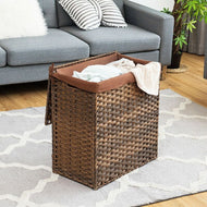 Hand-woven Foldable Rattan Laundry Basket-Furniture-MerchMixer-thegsnd