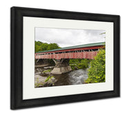 Framed Print, Taftsville Bridge Before Repairs-Framed Print-Ashley Art Studio-thegsnd