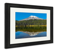 Framed Print, Seattle Mount Rainier And Reflection Lake-Framed Print-Ashley Art Studio-thegsnd