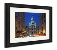 Framed Print, City Hall At Night In Philadelphipennsylvania-Framed Print-Ashley Art Studio-thegsnd