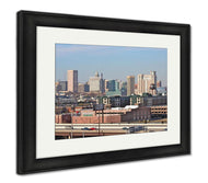 Framed Print, Baltimore City Skyline-Framed Print-Ashley Art Studio-thegsnd