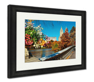 Framed Print, Central Park Autumn Buildings Midtown Manhattan New York City-Framed Print-Ashley Art Studio-thegsnd