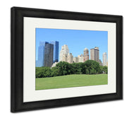 Framed Print, Central Park And Manhattan Skyline At Spring Time New York City-Framed Print-Ashley Art Studio-thegsnd