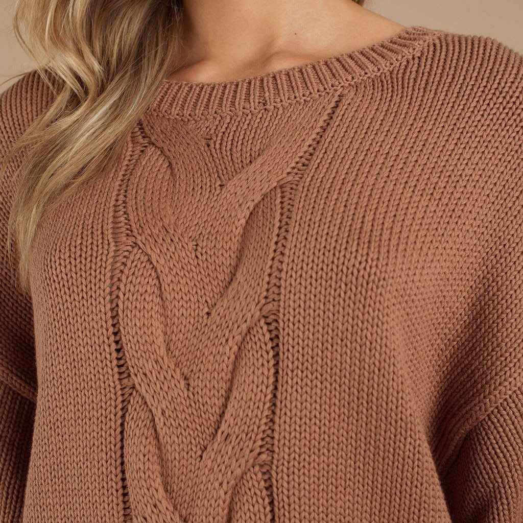 Womens Long Sleeve Solid Color Padded Pullover Fashion Knitted Sweater Hot B876
