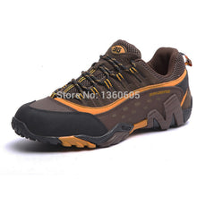 Load image into Gallery viewer, men outdoor sport hiking shoes waterproof hunting trekking sneakers shoes breathable genuine leather trail climbing shoes 372k - thegsnd