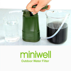 miniwell Emergency Gear Survival Kit Portable Personal Water Filter Camping Hiking fishing - thegsnd