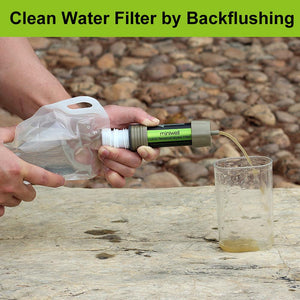 miniwell outdoor water filter survival kit for fishing,camping - thegsnd