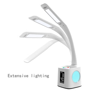 study led desk lamp with usb port&screen&calendar&color night light, children Lamp kids dimmable led table lamp with pen holder - thegsnd