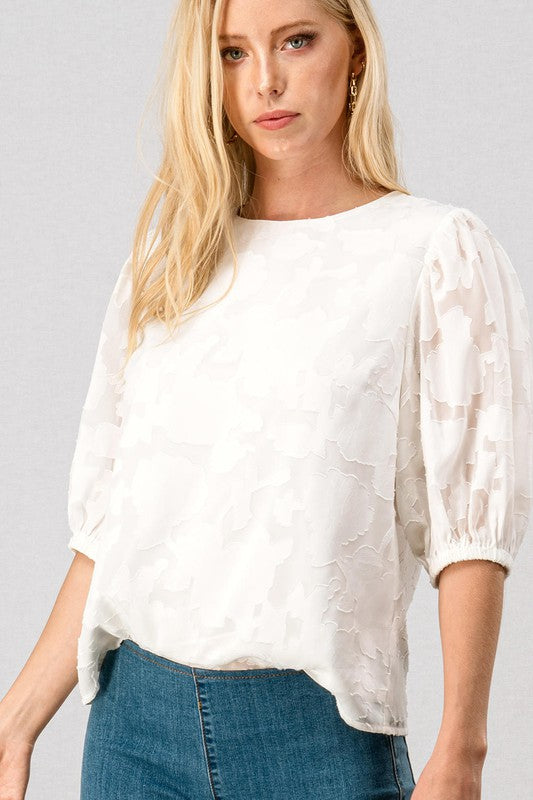 Silhouette Embroidered Blouse