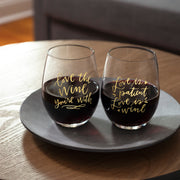 Wine Glass - Love Is Patient Love Is Wine