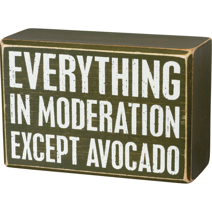 Box Sign & Sock Set - Except Avocado