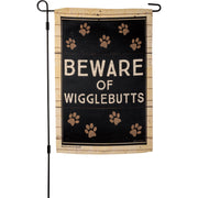 Garden Flag - Beware Of Wigglebutts