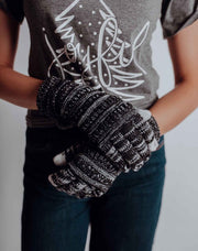 Knit Smart Tip Gloves - Heather Black