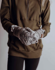 Knit Smart Tip Gloves - Heather Tan