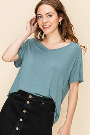 Raglan Sleeve High-low Top
