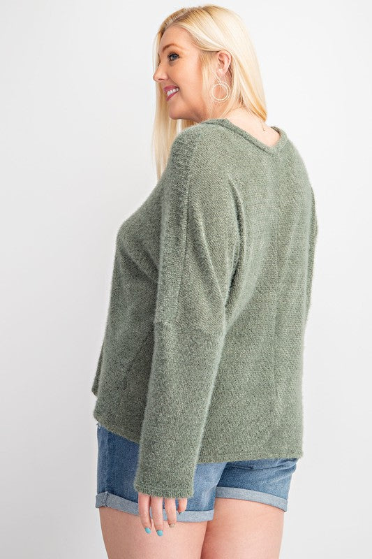 Brushed Sweater Knit Top