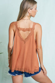 Washed Tidal Dye Halter Top