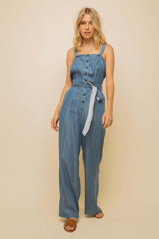 So Soft Denim Jumpsuit