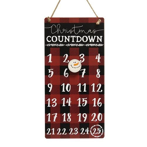 Buffalo Check Christmas Countdown Calendar