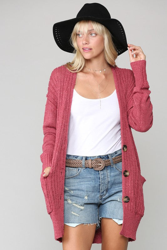 Chunky Button Down Cardigan