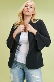 Pleated Cuff Blazer