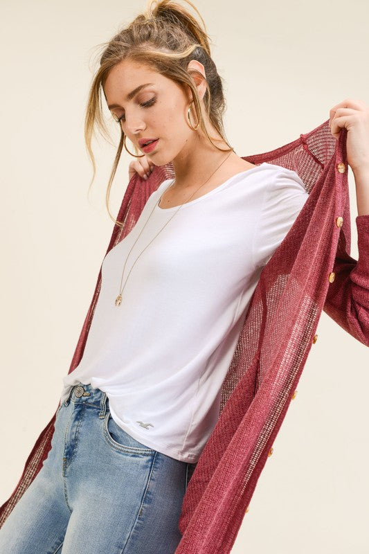 Duster Button Up Cardigan