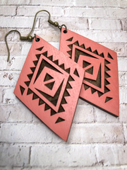 Avondale Wood Earrings - Sunset
