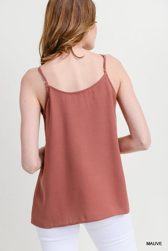 Solid Button Tank Top