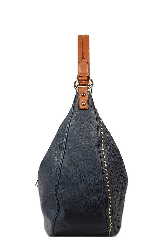 Zarina Hobo Shoulder Bag - Navy