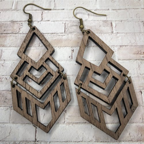 Church Hill Wood Earrings