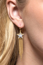 Faux Druzy Star Shape Earrings