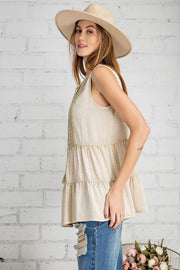Sunday Morning Sleeveless Top