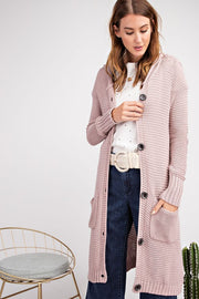 Maxi Button Down Hoodie Cardigan